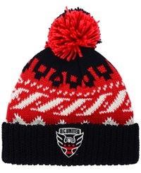 Adidas Dc United Sweater Pom Knit Hat Black