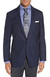 Peter Millar Men's Herringbone Sport Coat Navy