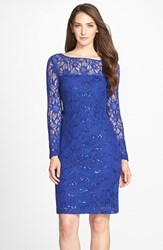 Women's Js Collections Illusion Lace Dress