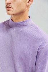 Stussy Mock Neck Thermal Long Sleeve Tee Purple