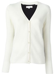 Chinti And Parker Colour Block Cardigan White