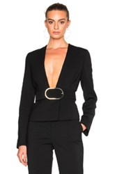 Stella Mccartney Buckle Blazer In Black