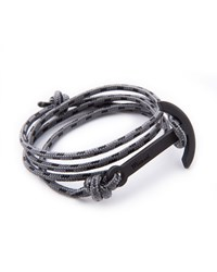 Miansai Modern Anchor Rope Bracelet Light Grey