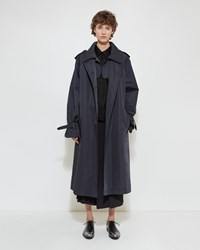 Jil Sander Barcode Trench Dark Blue
