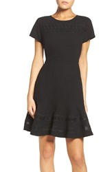 Chelsea 28 Women's Chelsea28 Mixed Media Fit And Flare Dress