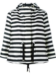 Moncler Hooded Striped Jacket Black