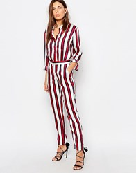 Finders Keepers Stripe Trousers Burgundy Stripe Multi