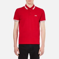 Hugo Boss Green Men's Paddy Polo Shirt Medium Red