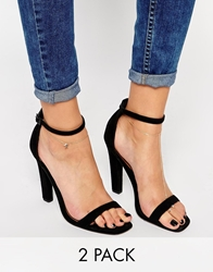 Asos Pack Of Two Fine Star Anklet And Toe Ring Rosegold