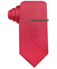 Ryan Seacrest Distinction Seacrest Solid Slim Tie Red