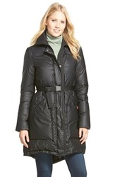 Women's Hunter Rubber Touch Down Coat Black