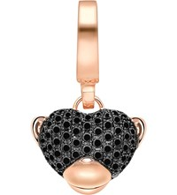 Theo Fennell Monkey 'Art 18Ct Rose Gold And Diamond Charm Black