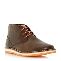 Dune Cagoule Lace Up Casual Desert Boots Brown