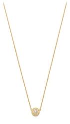 Sarah Chloe Petite Jolie Diamond Necklace Clear Gold