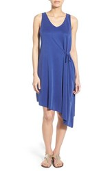 Women's Matty M Asymmetrical Shift Dress With Side Tie Royal
