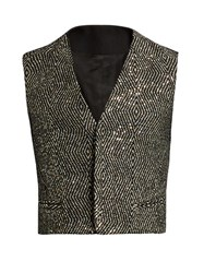 Haider Ackermann Orbai Sequin Embellished Waistcoat Black Multi
