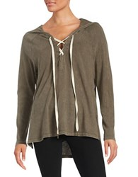 Project Social T Lace Up Hoodie Brown