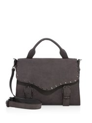 Rebecca Minkoff Studded Leather Biker Doctor Bag Grey