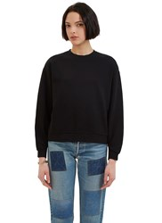 Katharine Hamnett X Ymc Oversized Crew Neck Sweater Black