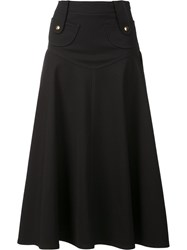 Derek Lam Pleated Midi Dress Black