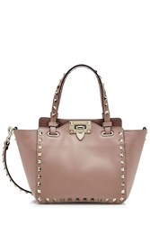 Valentino Rockstud Mini Leather Tote Purple