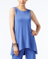 Alfani Sleeveless High Low Tunic Only At Macy's Alf Pery Blue