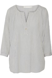 Kain Label Layla Striped Crepe Top White