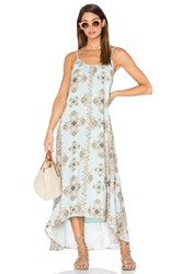 Pink Stitch Resort Maxi Dress Turquoise