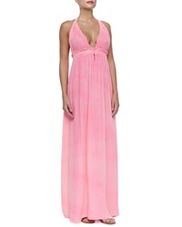 Loveshackfancy Braided Halter Cotton Maxi Dress Jaipur Pink