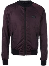 Dolce And Gabbana Classic Bomber Jacket Red