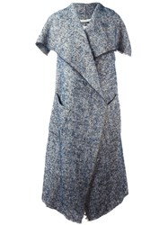 Forte Forte Sleeveless Woven Coat Blue