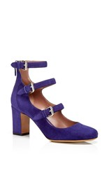 Tabitha Simmons Ginger Suede Pumps Purple