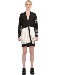 Natargeorgiou Neoprene And Laser Cut Silk Lace Jacket