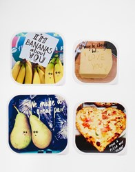 Paperchase Valentines Set Of 4 Instagram Snack Boxes Multi
