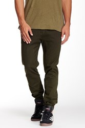Micros Crossblock Printed Twill Jogger Green
