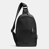 Coach Campus Pack In Pebble Leather Black Antique Nickel Black
