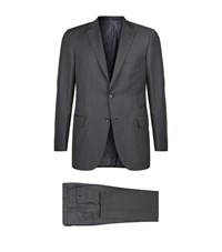 Brioni Mini Houndstooth Suit Male Grey