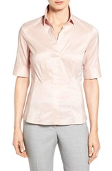 Women's Boss 'Bashini' Elbow Sleeve Stretch Poplin Shirt