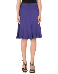 Charlott Skirts Knee Length Skirts Women Purple
