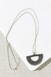 Urban Outfitters Medallion Necklace Silver