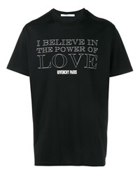Givenchy Power Of Love Short Sleeve T Shirt Black White