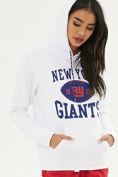 Forever 21 Nfl Giants Fleece Hoodie White Blue