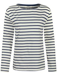 Seasalt Sailor Jersey Top Breton Ecru Night