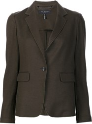 Rag And Bone Single Button Blazer Green