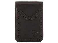Ariat Shield Perforated Edge Money Clip Black Wallet Handbags