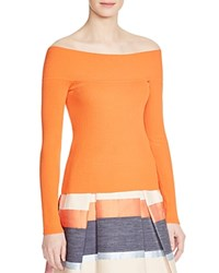 Whistles Rib Knit Bardot Top 100 Bloomingdale's Exclusive Coral