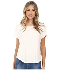 Culture Phit Karyn Short Sleeve Comfy Top Ivory Women's Clothing White