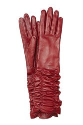 Alexander Mcqueen Leather Gloves Red
