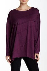 Planet Diagonal Tuck Tee Purple