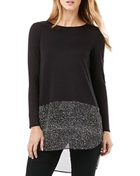 Phase Eight Carys Spotted Hem Top Black
